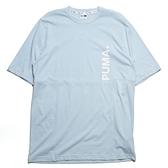 PUMA 短T 水藍 側邊 大LOGO 短袖 上衣 (布魯克林) 57799624