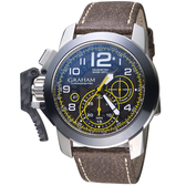 GRAHAM格林漢Chronofighter Steel強悍腕錶    2CCAC.B16A.LA3S