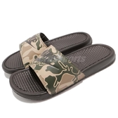 Nike 涼拖鞋 Benassi JDI Print 迷彩 Camo 黑 綠 咖啡 運動拖鞋 男鞋 女鞋 【PUMP306】 631261-202