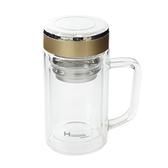 雙層玻璃辦公杯 玻璃杯 馬克杯 雙層杯 380ml NITORI宜得利家居