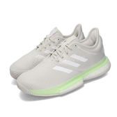 adidas 網球鞋 SoleCourt W 灰 白 女鞋 運動鞋 【PUMP306】 EF2075