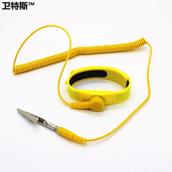 衛特斯 硅膠有繩手腕帶 有線防靜電手環 防靜電手腕帶可調節長短 城市科技