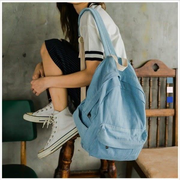 後背包-丹寧風帆布後背包-共3色-A12120687-天藍小舖