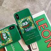 【SZ24】惡搞卡通Nice青蛙 光面軟殼 iphone XS MAX手機殼 iphone XR XS手機殼 iphone 8plus手機殼 iphone 6s plus