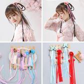 兒童古代髪夾頭花中國風流蘇飄帶髪飾