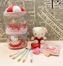 【震撼精品百貨】凱蒂貓_Hello Kitty~日本SANRIO三麗鷗 KITTY文具組/造型娃娃提盒#27857