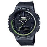 附台灣卡西歐保卡才是公司貨【時間光廊】CASIO 卡西歐 Baby-G 跑步錶 30組圈速記憶 BGS-100-1A