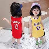 兒童裙子夏款小童籃球背心裙運動寶寶裙子夏女童洋裝夏純棉洋氣 幸福第一站