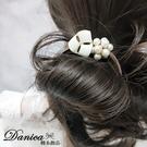 現貨不用等 韓國氣質甜美手作小香風幾何珍珠立體球球打結髮束 S8283 批發價 Danica 韓系飾品
