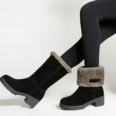 雪靴 冬季雪地靴 中筒加厚 保暖靴子 防滑平底短靴