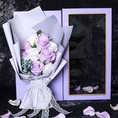 花束香皂花禮盒創意特別520情人節送女友生日禮物錶白玫瑰花束肥皂花 11朵·樂享生活館liv