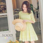 東京著衣【YOCO】法國好女孩細褶條紋洋裝-XS.S.M(6012800)