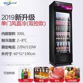 冷凍櫃 飲料柜保鮮冰箱立式單門大容量超市冷柜冰柜冷藏展示柜