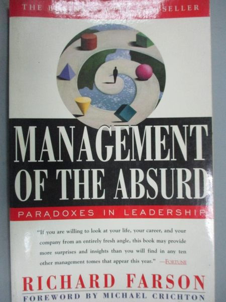 【書寶二手書T5/大學商學_JRV】Management of the Absurd: Paradoxes in Lea