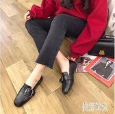 2019夏季新款韓版方頭豆豆鞋時尚百搭低跟小皮鞋樂福鞋cp514『美好時光』