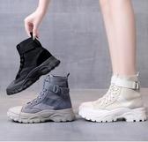 秋季爆款單靴馬丁靴女英倫風