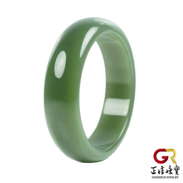 和田碧玉手鐲 碧玉手鐲 玉手鐲 頂級俄碧白佳麗手鐲|手圍內徑57.5mm 手圍尺寸18.5號