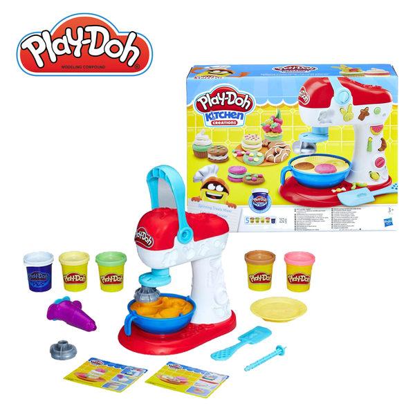 【買就送2罐單色黏土】Play-Doh培樂多-廚房系列轉轉蛋糕遊戲組