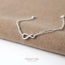 925純銀手鍊 曲線8完美雙鍊設計手環 ...