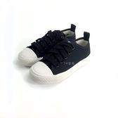 中童 專櫃普萊米 簡單休閒 百搭 MIT帆布鞋《7+1童鞋》E204 黑色