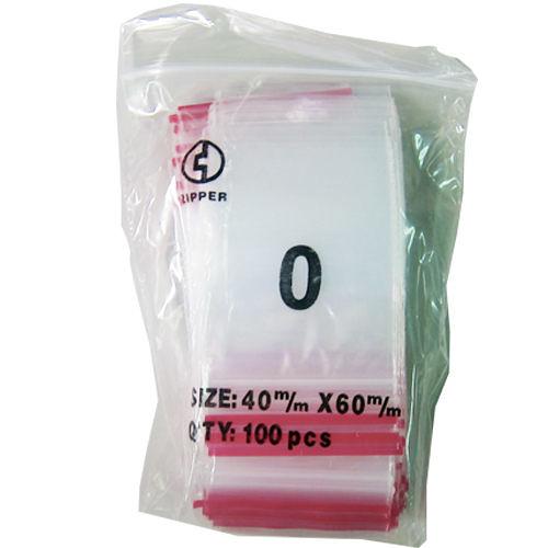 【奇奇文具】由任袋 0號/夾鍊袋 NO.0 4×6cm (100入/包)
