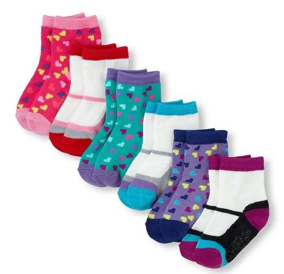 Place襪子  可愛圖案6雙一組設計款女童襪子