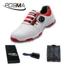 高爾夫球鞋 男士防水鞋子 pgm 旋轉鞋扣運動鞋 GSH093WRED