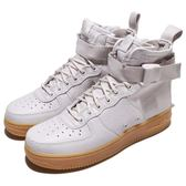 【六折特賣】Nike 休閒鞋 Wmns SF AF1 Mid Air Force 1 灰 咖啡 皮革 軍事風 運動鞋 女鞋【PUMP306】 AA3966-005