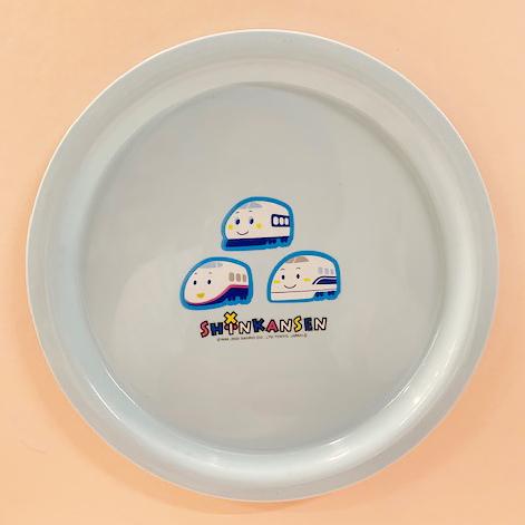 【震撼精品百貨】Shin Kan Sen 新幹線~三麗鷗新幹線塑膠盤/美耐皿盤子-淺藍#04855