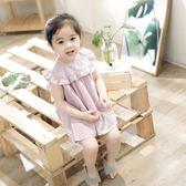 2018夏季新款童裙 正韓女童荷葉邊無袖公主裙洋裝1-3歲寶寶【萬聖節鉅惠】