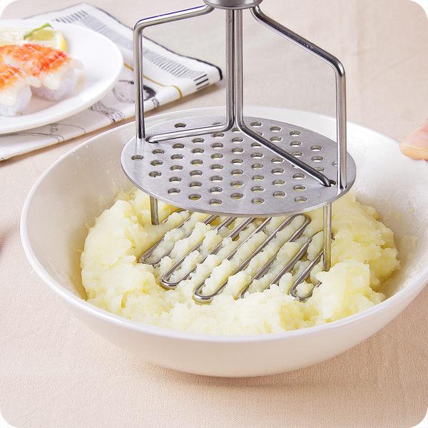 不銹鋼土豆壓泥器寶寶輔食壓薯器馬鈴薯搗碎器水果搗泥器壓碎器