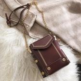 手機包2019小包包高級感女包迷你質感手機包鍊條百搭洋氣時尚斜背包聖誕交換禮物