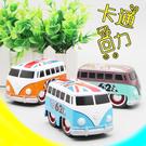 Q版 可愛 國旗 巴士 模型 玩具 車 老爺 校車 巴士