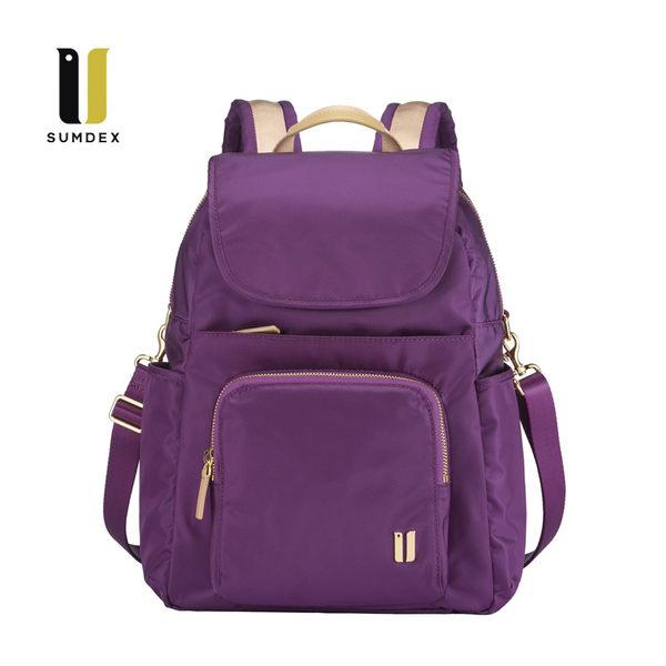 SUMDEX  平板防盜三用後背包NOD-765PU紫色