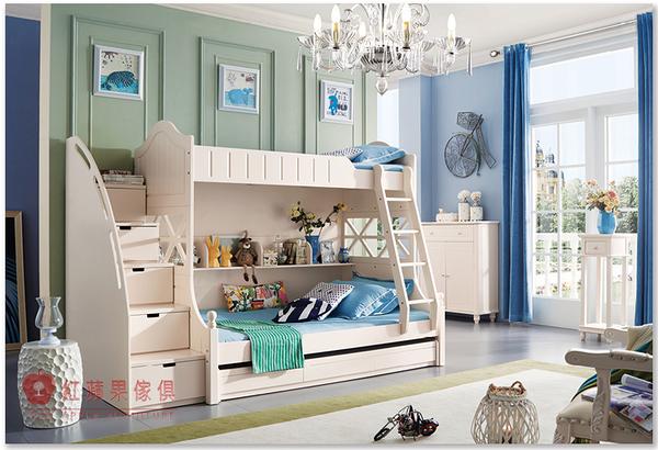 [紅蘋果傢俱] A09 兒童家具 儲物床 雙層床 青年床 母子床 兒童床 單人床 梯櫃(含安裝)
