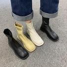 靴子 馬丁靴女英倫風2020秋季新款韓版粗跟低跟瘦瘦靴 短靴馬丁靴女潮【快速出貨八折下殺】