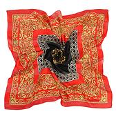 Christian Dior古典雕花紋緞面方型絲巾(紅色)179011-2