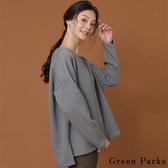 ❖ Autumn ❖ 側開叉柔軟親膚V領針織上衣 - Green Parks