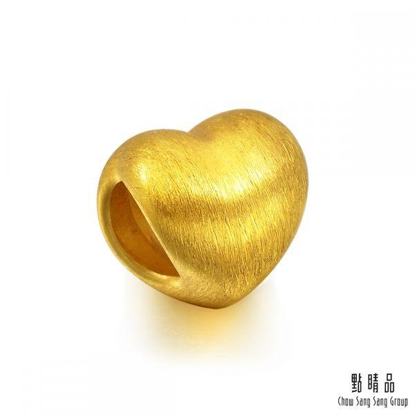 點睛品 Charme 愛心 黃金串飾