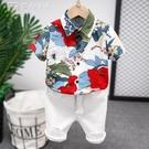 男童襯衫童裝夏季新款21夏款韓版男童帥氣短袖襯衫兒童洋氣潮牌 快速出貨
