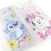 【Disney 】iPhone SE/i5/i5s 可愛透明保護軟套-水彩風