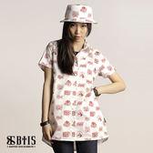 【BTIS】滿版印花襯衫 女款 / 米白色