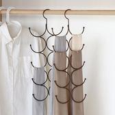 多功能掛圍巾架子家用收納神器領帶絲巾架皮帶絲襪掛架圈圈環身架