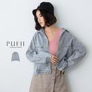 限量現貨◆PUFII-牛仔外套 水洗風排...