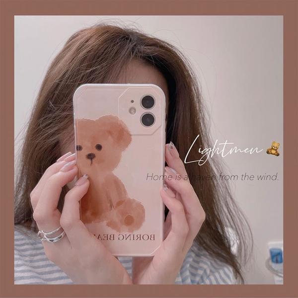 手機殼 韓國小熊適用iphone12pro/max蘋果11手機殼xr側邊x可愛xs女8plus7