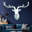 鹿頭壁掛歐式背景牆創意北歐風格裝飾掛件客廳牆面臥室辦公室掛飾「時尚彩紅屋」