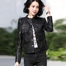 皮衣外套 皮衣女秋冬季新款黑色帥氣顯瘦PU短款設計小眾機車服夾克外套 韓菲兒