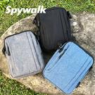 SPYWALK 硬挺簡約夾層小側背包 N...