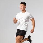 2020夏季短袖透氣輕薄彈力排汗休閒上衣 跑步運動健身男款速干T恤