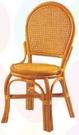 【南洋風休閒傢俱】藤椅系列 – L型餐椅 編藤椅 乘涼椅 復古泡茶椅 (761-19)